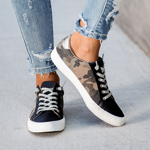 Fionachic Summit Faux Leather Camo Sneakers