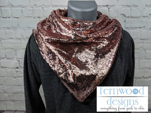 Rose Gold Sequin S'cowl