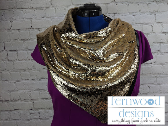 Gold Sequin S'cowl