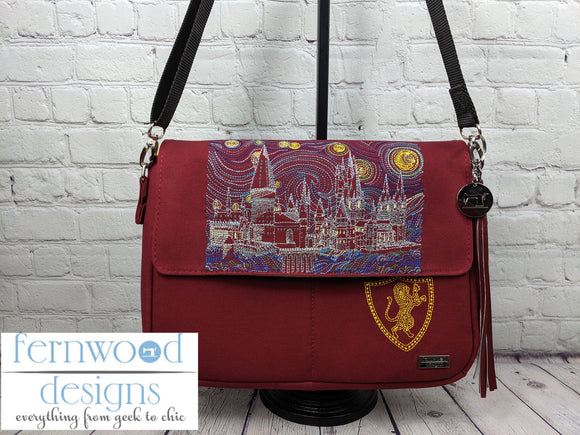 Starry Hogwarts Messenger Bag