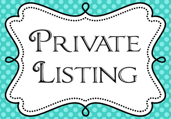 Private Listing for Bunting