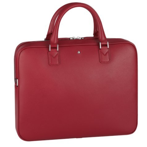 Montblanc Sartorial Document Case Slim Red Leather Business Bag 116759 (2053193695286)