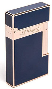 S.T. Dupont Linea 2 Pink Gold - Blue Chinese Laque Lighter réf. 016496 (4337229135985)