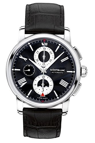 MONTBLANC MEN'S 4810 43MM BLACK ALLIGATOR LEATHER BAND AUTOMATIC WATCH 115123 (4337270161521)