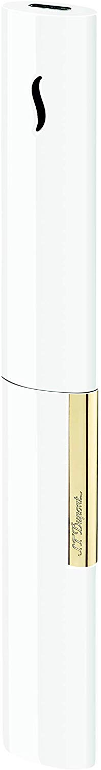 S.T.Dupont D-024006 - Accendino The Wand, colore: Bianco/Oro (4378584383601)