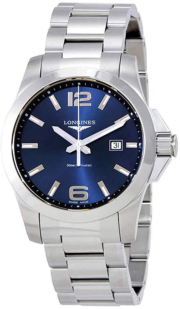 Longines Conquest L37604966 - Quadrante blu in acciaio  43 mm (4392580218993)