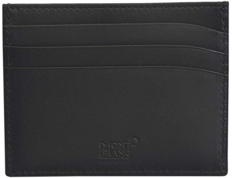 Montblanc Meisterstuck Business Card Holder MB-113172 Men's Grey Color Leather (4337259413617)