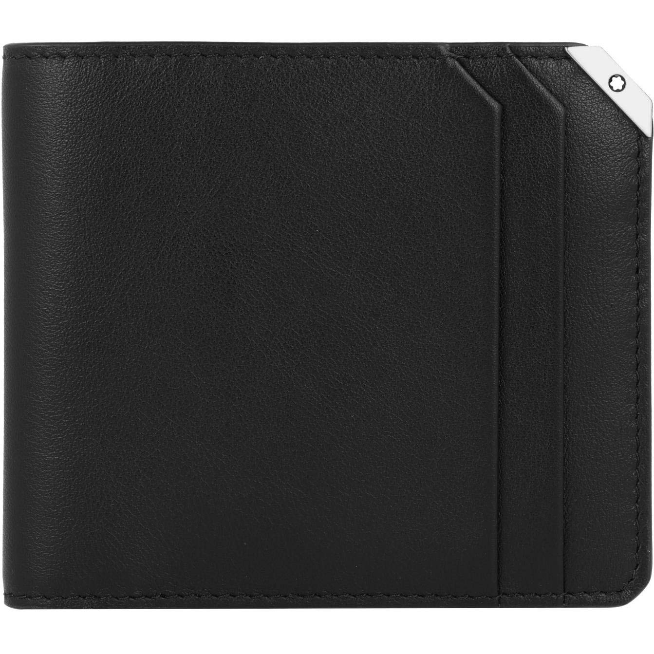 Montblanc Meisterstueck Urban Black Leather Wallet 124091 (4337293361265)