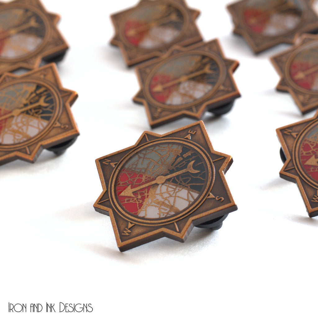 Enamel Pin, ADSOM inspired compass looking pin.