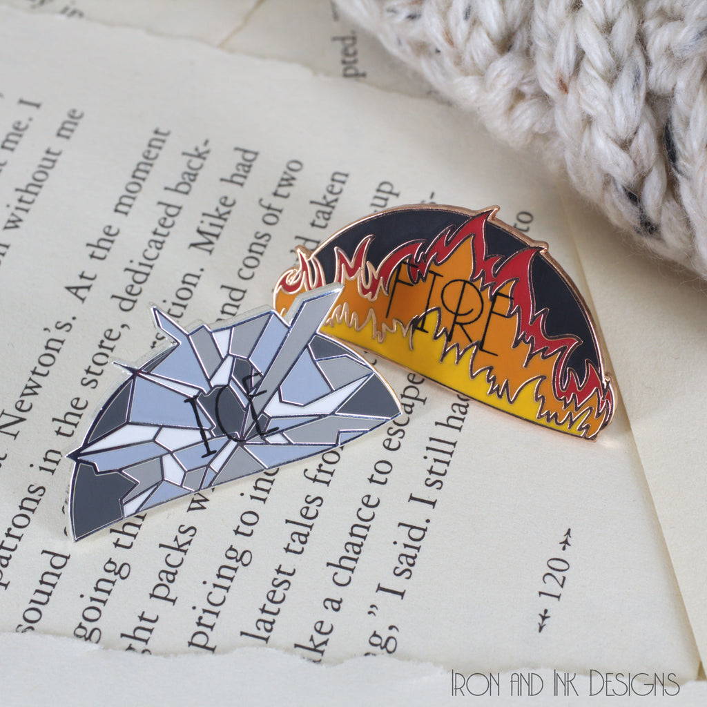 Enamel Pin Fire and Ice Duo