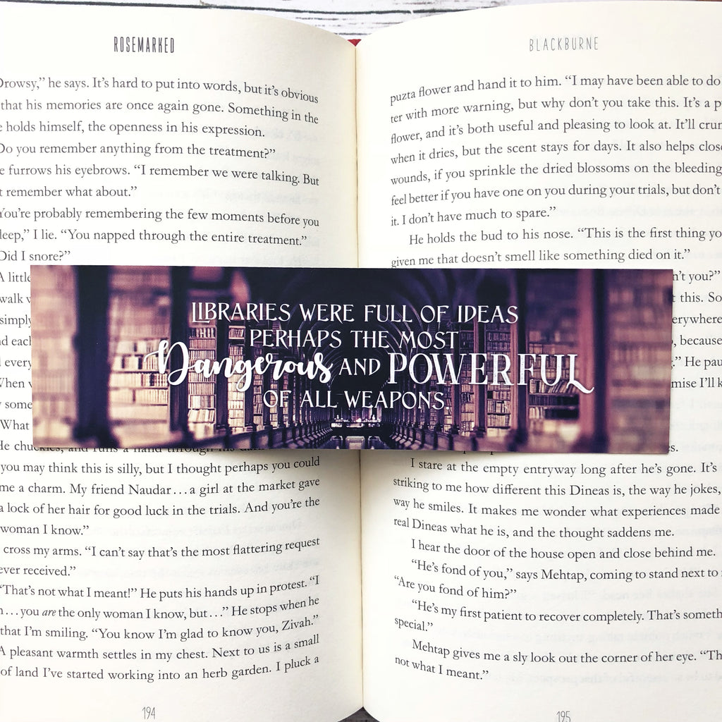Bookmark, Throne of Glass library quote, Sarah J Maas inspired.