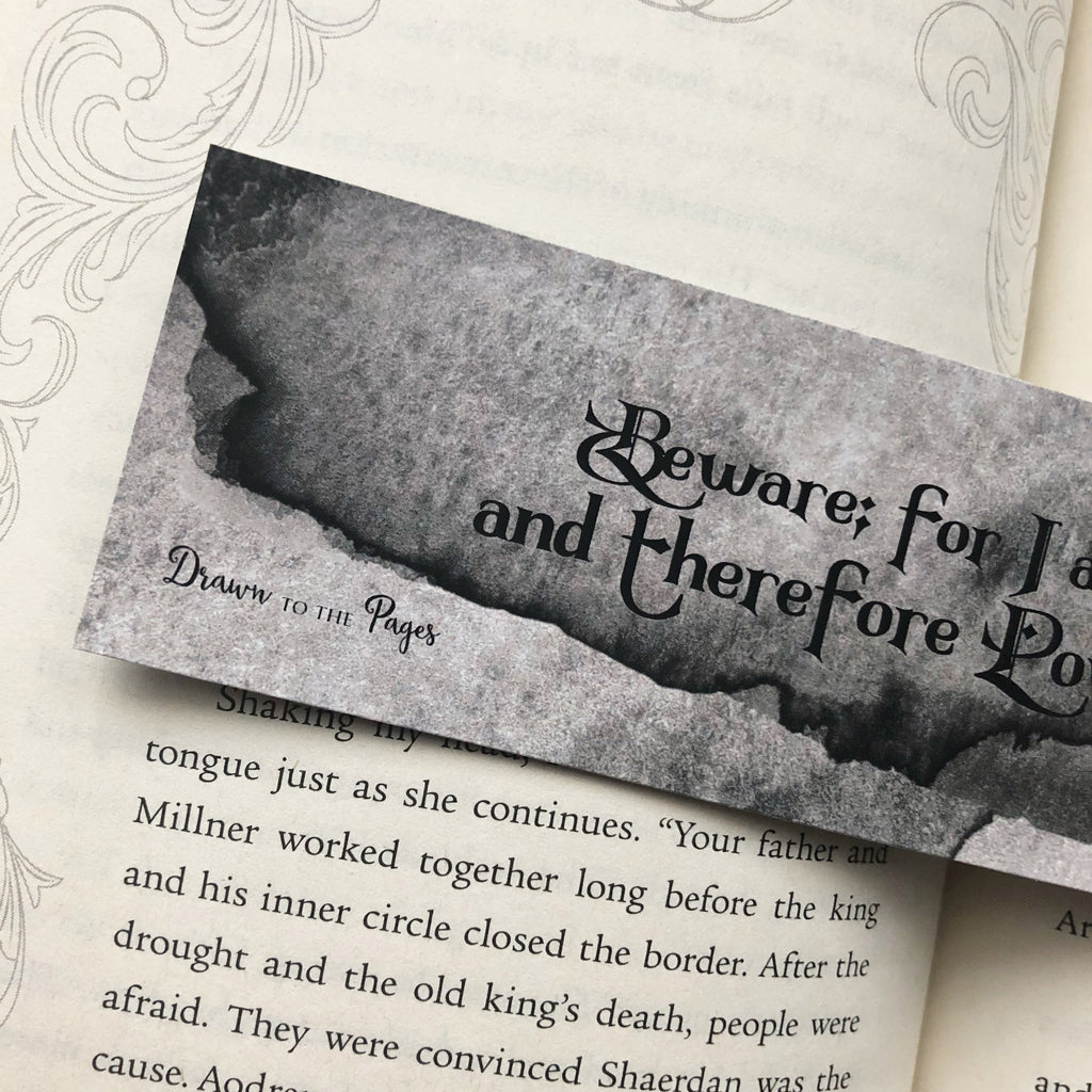 Bookmark, Frankenstein Quote, watercolor double sided.