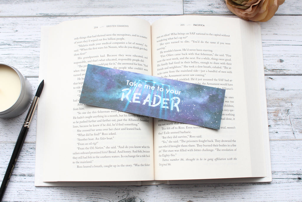 Bookmark, Sci-Fi Genre, Funny quote, watercolor bookmark.