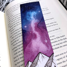 Load image into Gallery viewer, Bookmark, Night Court Sky, Watercolor bookmark.