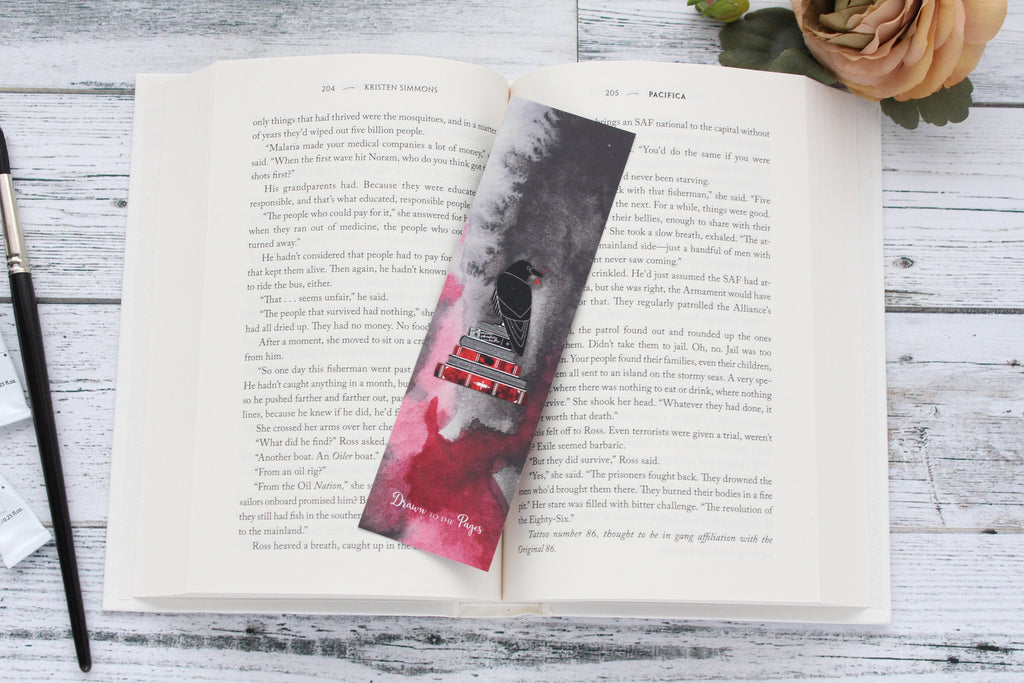 Bookmark, Six of Crows quote, Watercolor bookmark.