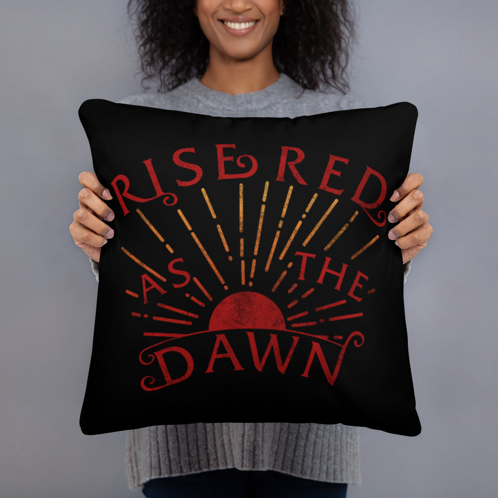 Red as the Dawn Basic Pillow