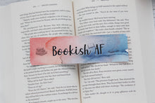 Load image into Gallery viewer, Bookmark, Bookish AF, Watercolor Bookmark.