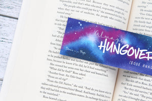 Bookmark, Always (book) Hungover, quote bookmark.