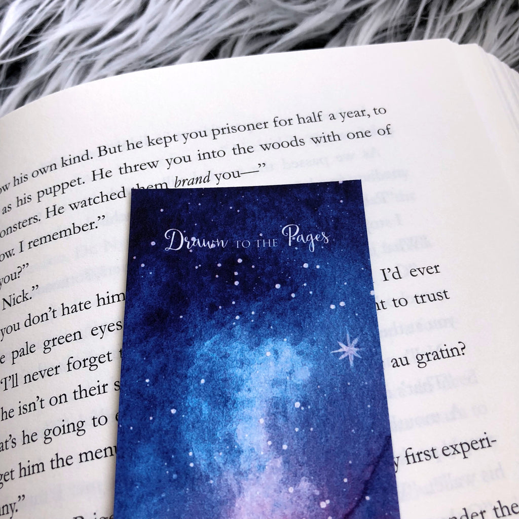 Bookmark, Night Court Sky, Watercolor bookmark.