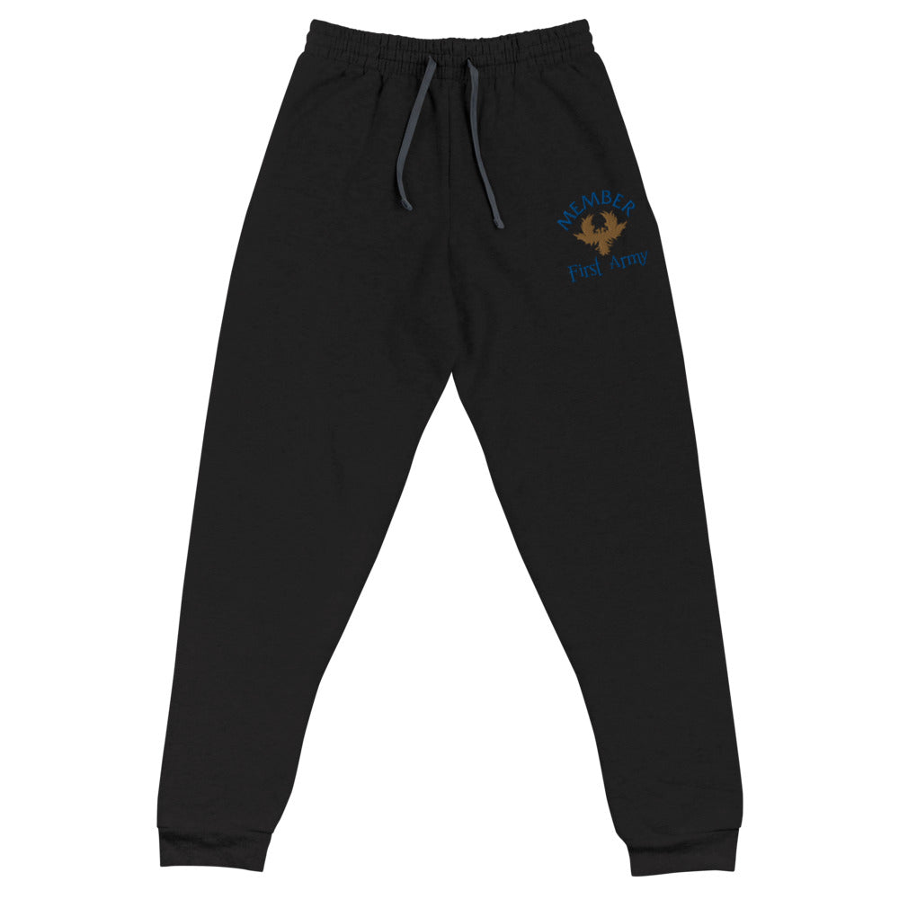 Member of the First Army Embroidered Unisex Joggers