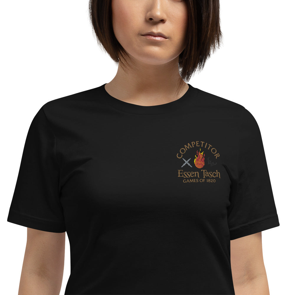 Competitor of the Essen Tasch embroidered Short-Sleeve Unisex T-Shirt