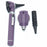 FIBER OPTIC LED POCKET OTOSCOPE & OPHTHALMOSCOPE DIAGNOSTIC SET - PURPLE