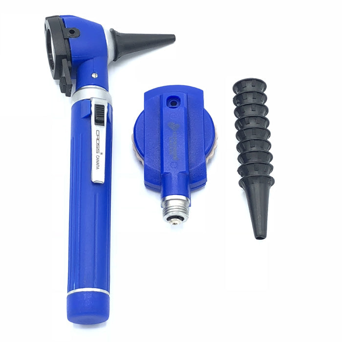 FIBER OPTIC LED POCKET OTOSCOPE & OPHTHALMOSCOPE DIAGNOSTIC SET - ROYAL BLUE