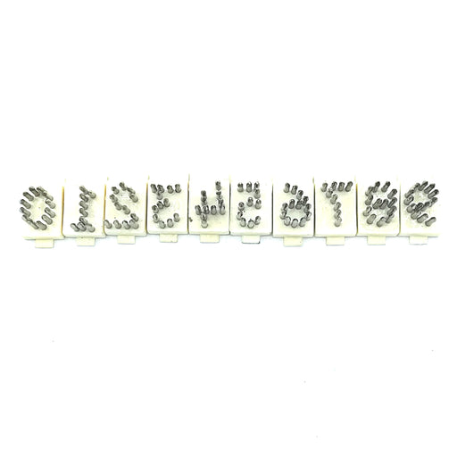 "TATTOO DIGITS SET (3/8"") NYLON BASE"