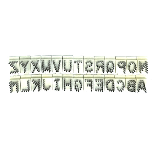 "TATTOO ALPHABET SET A-Z (3/8"") NYLON BASE"