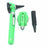 FIBER OPTIC LED POCKET OTOSCOPE & OPHTHALMOSCOPE DIAGNOSTIC SET - GREEN