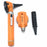 FIBER OPTIC LED POCKET OTOSCOPE & OPHTHALMOSCOPE DIAGNOSTIC SET - ORANGE