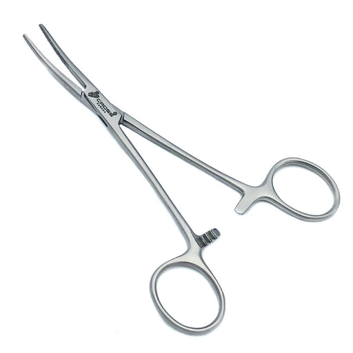 "Kelly Hemostatic Forceps, 5.5"" (14cm), Curved, Serrated"