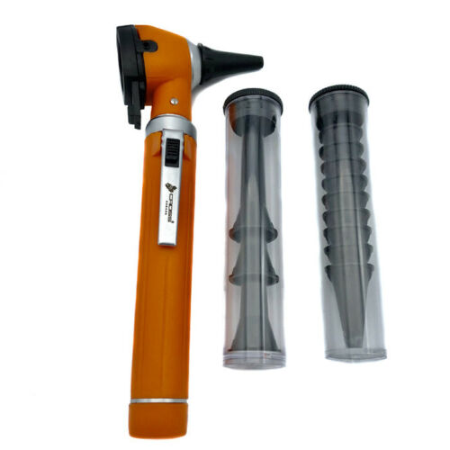 FIBER OPTIC LED POCKET OTOSCOPE DIAGNOSTIC SET - ORANGE