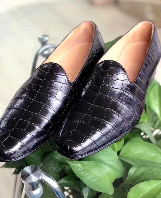 Pinterest Black Alligator Print Loafer