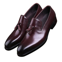 Load image into Gallery viewer, Ethan Burgundy Tassel Loafer