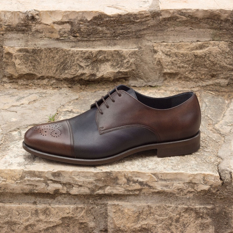 Aaron Dark Brown & Navy Blue Derby