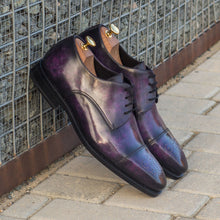 Load image into Gallery viewer, Broderick Purple Patina Finish Goodyear Welted Patina Derby