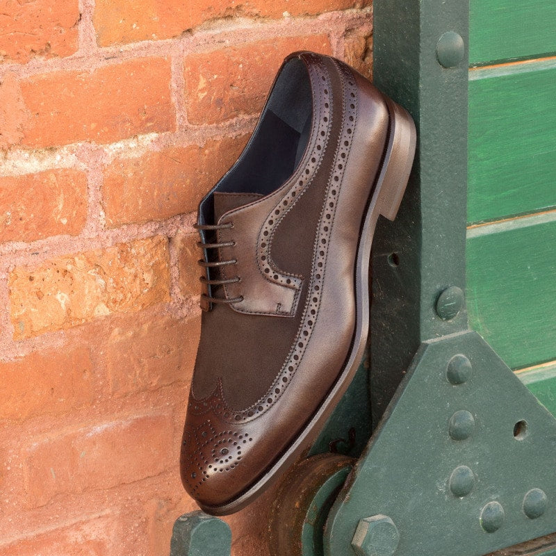 Derek Dark Brown Leather & Suede Derby