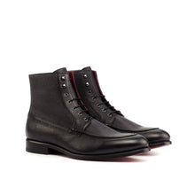 Load image into Gallery viewer, Grendel Black Pebble Grain Leather Lace Up Boot