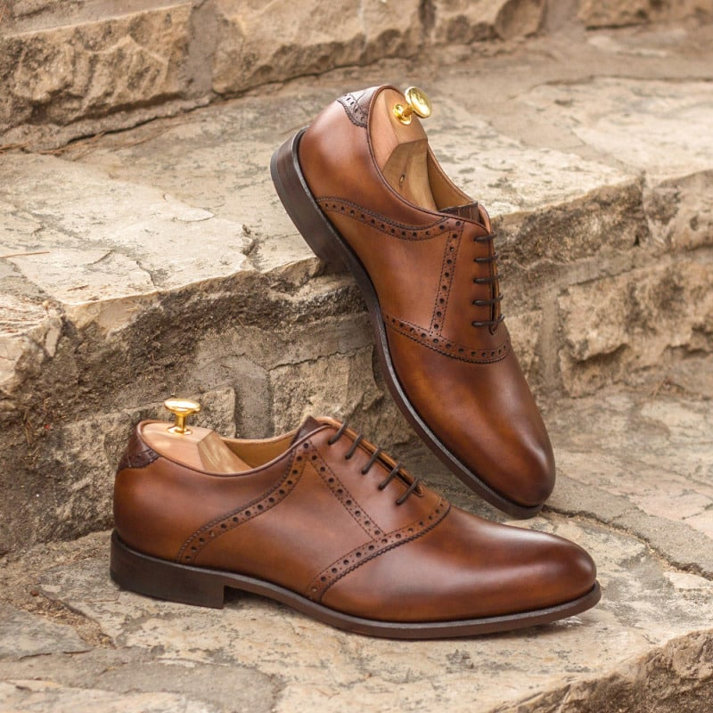 Liam Dark Brown Burnished Oxford