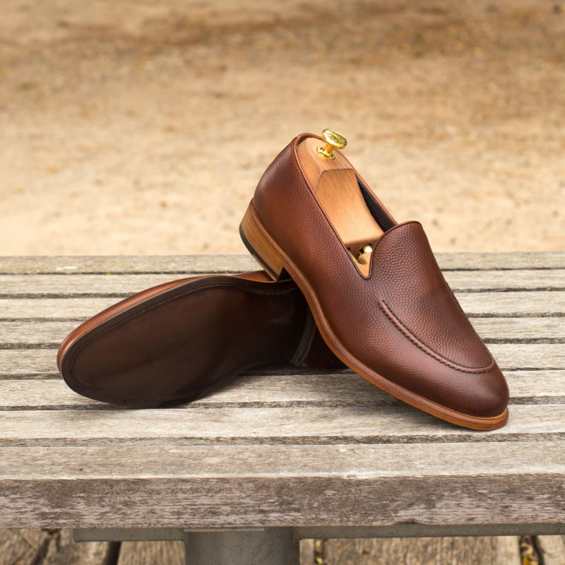 Adam Pebble Grain Brown Goodyear Welted Loafer