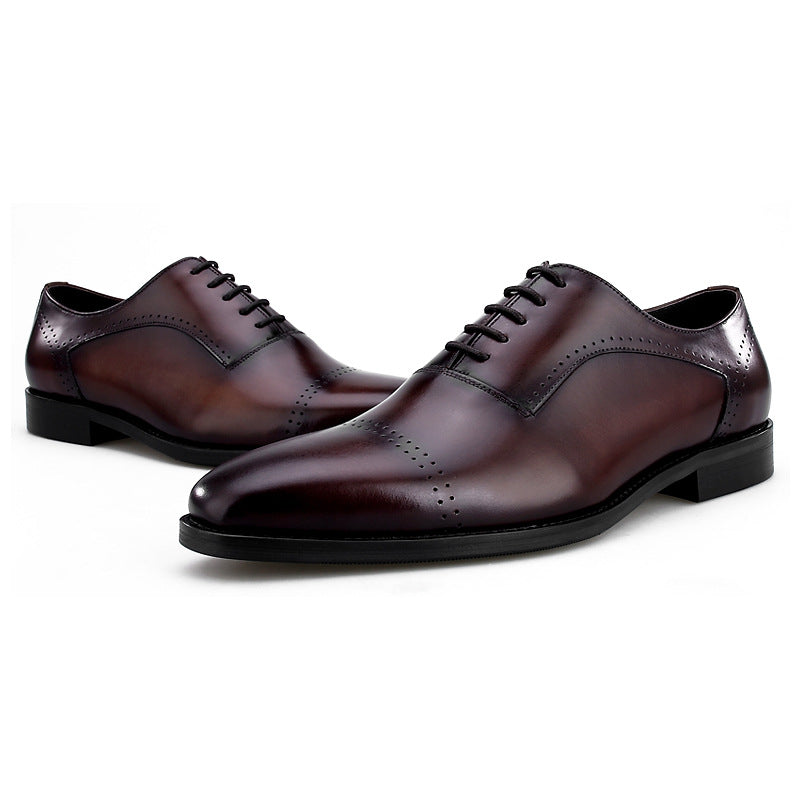 Oliver Burgundy Brown Oxford