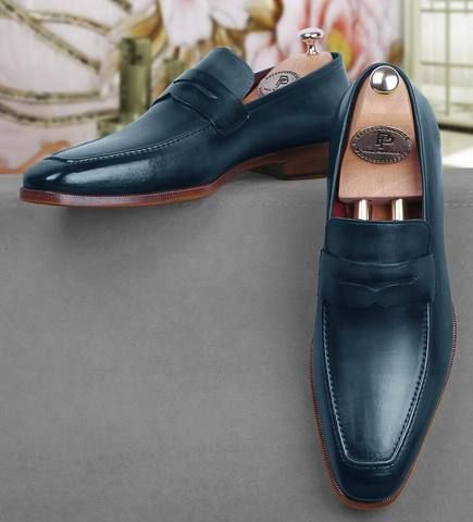 Pinterest Turquoise Blue Penny Loafer