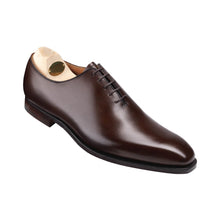 Load image into Gallery viewer, Dark Brown Leather Formal Wholecut Oxford Lace Up Shoes for Men with Leather Sole. Goodyear Welted Construction Available.