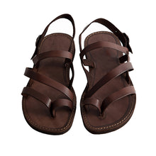 Load image into Gallery viewer, Brown Leather Strap Sandal