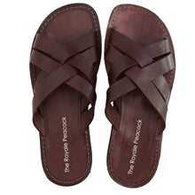 Load image into Gallery viewer, Brown Leather Strap Chappal