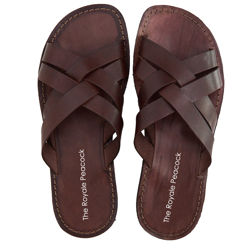 Brown Leather Strap Chappal