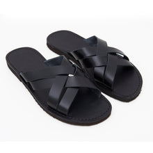 Load image into Gallery viewer, Black Leather Chappal