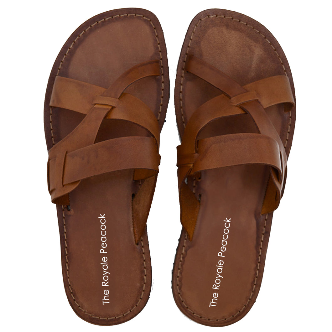Tan Leather Strap Chappal