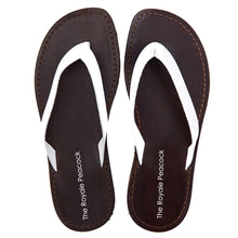 Load image into Gallery viewer, White Leather Chappal